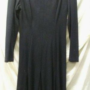 black long dress cut outs shoulders chest